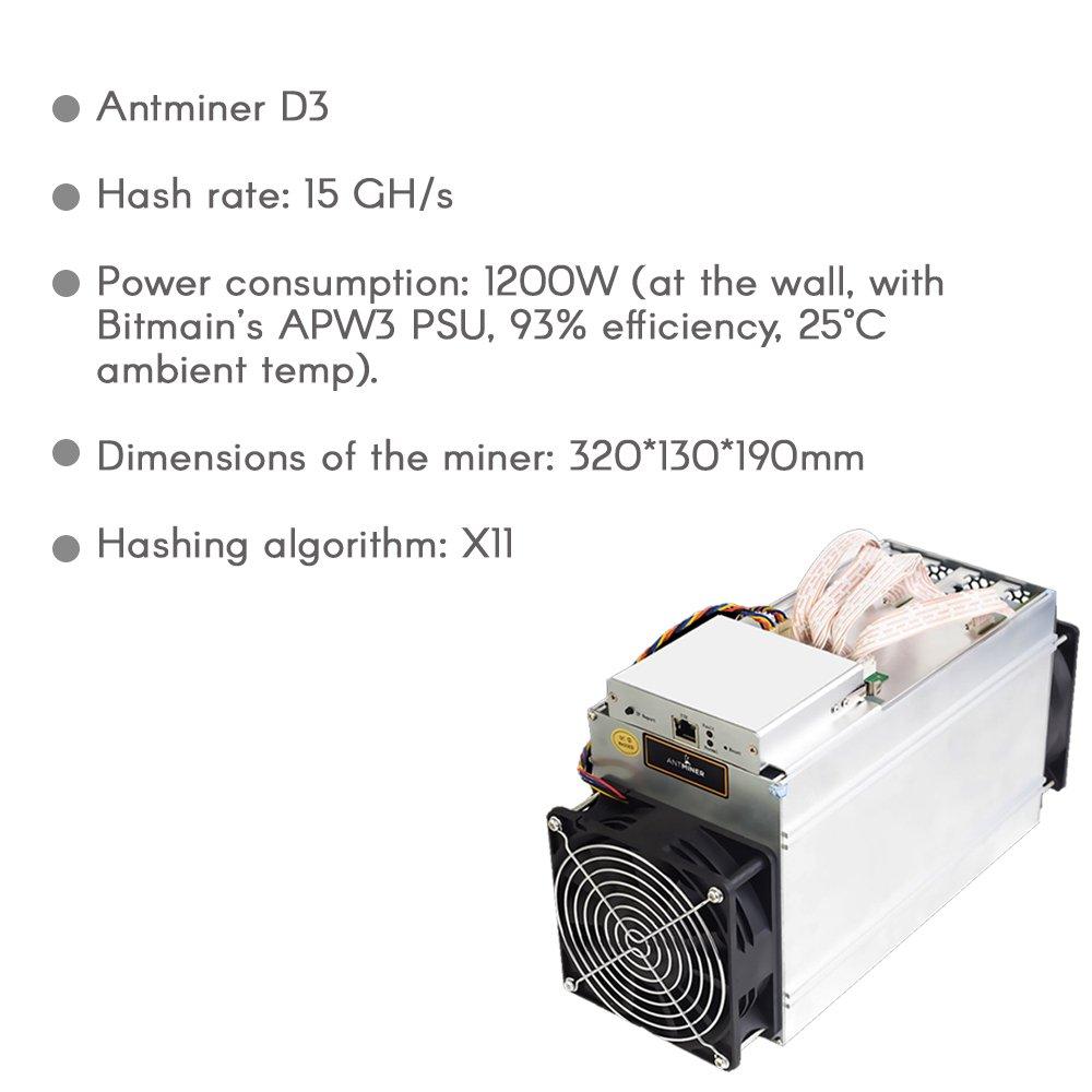 Antminer D3 19 3 GH/s X11 ASIC Dash Miner