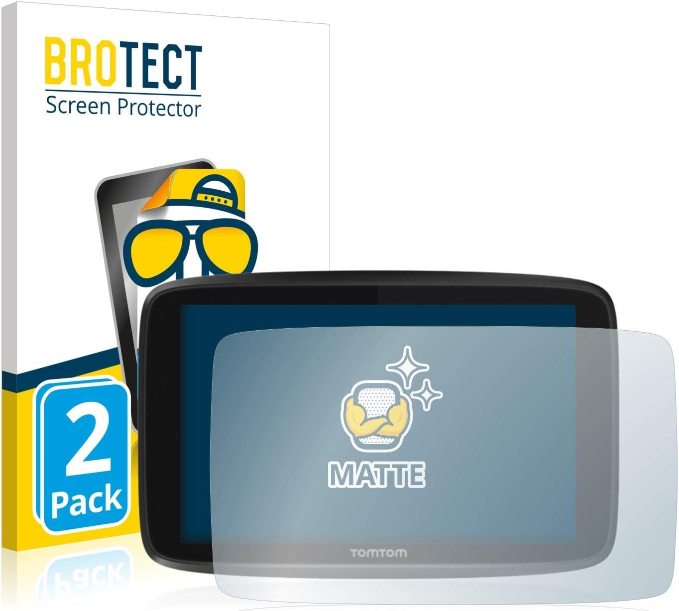 BROTECT Protector Pantalla Anti-Reflejos Compatible con Tomtom GO 6250 (2 Unidades) Pelicula Mate Anti-Huellas