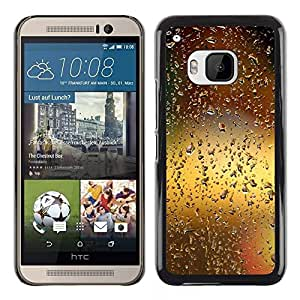 LECELL -- Funda protectora / Cubierta / Piel For HTC One M9 -- Water Drop Bokeh --