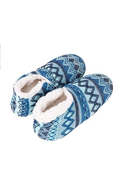 5220a9f4e64 Zinmuwa Calcetines Deslizantes De Lana Antideslizantes Gruesos Cálidos De  Invierno Vitege Floral Azul One Size  Amazon.es  Ropa y accesorios