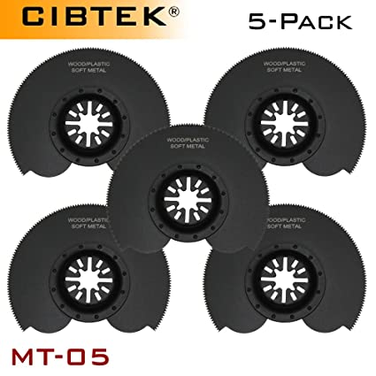 5 Pcs Segmented Circular Cut Oscillating Multi Tool Saw Blades For