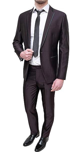 705f2fa188 FB CLASS Abito Uomo Sartoriale Raso Slim Fit Vestito Completo ...