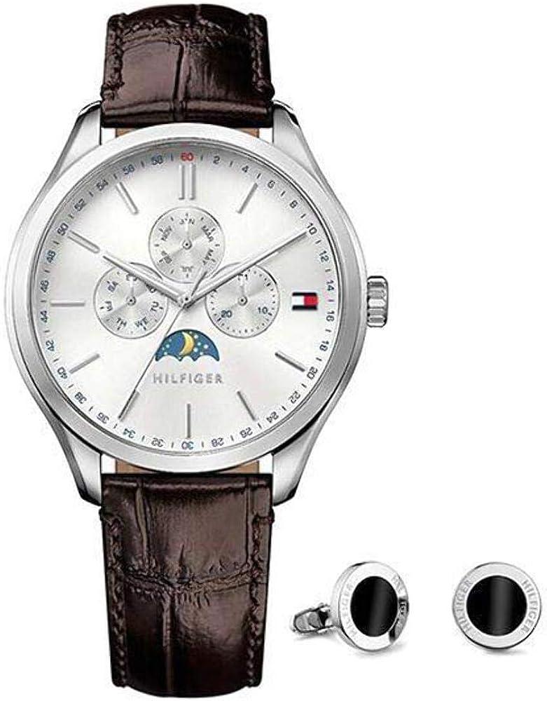 Tommy Hilfiger Oliver para hombre del reloj y el conjunto de la mancuerna 1770014