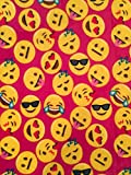 Velvet Fleece Emoji Throw Blanket (Dark Pink)