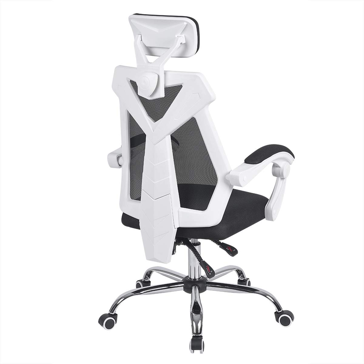 AuAg Gaming Chair Racing Office Chair High Back Computer Desk Chair PU Leather Gaming Chair Ergonomic Adjustable Swivel Gaming Chair-White by AuAg
