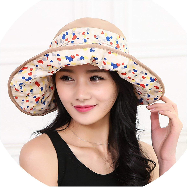 for Ladies Hats Beach Cap Foldable Wide Brim Summer Beach Sun Hat Womens