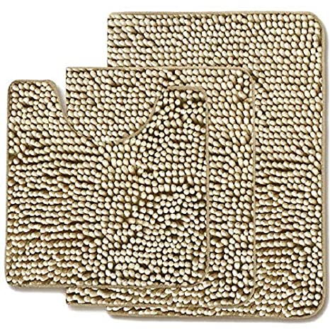 Amazon.com: MAYSHAG - Juego de alfombras de baño (3 piezas ...