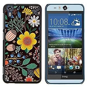 Stuss Case / Funda Carcasa protectora - Pintura Dibujo Negro Limpiar - HTC Desire Eye ( M910x )