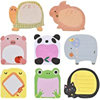 Doryum Sticky Notes, 8 Pads Cute Animals Sticky Notes, Novelty Super Sticky Notes for School, Office Memo, Party Bags…