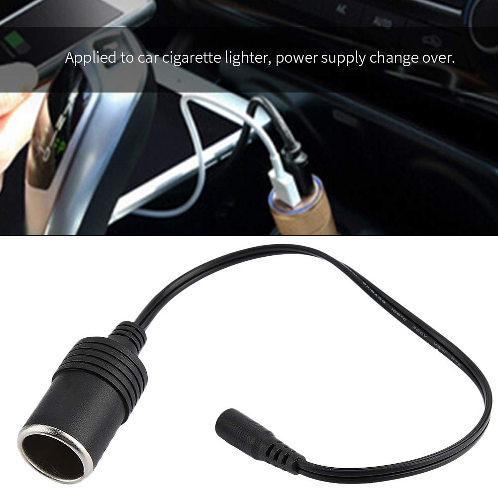 conector hembra del adaptador del cable del cargador del enchufe hembra Qii lu Encendedor de cigarrillos del coche
