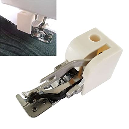 Gugutogo Durable Metal & Plastic Side Cutter Pie prensatelas/Bordado Darning Foot para máquina de
