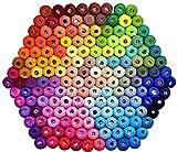 Crochet Thread Set Balls-Crochet Cotton Yarn-Size 8-Crochet Thread-Total 6768 Yards 100% Mercerized Cotton for Crochet Hardanger Cross Stitch Needlepoint 144 Balls Popular Rainbow Colors: more info