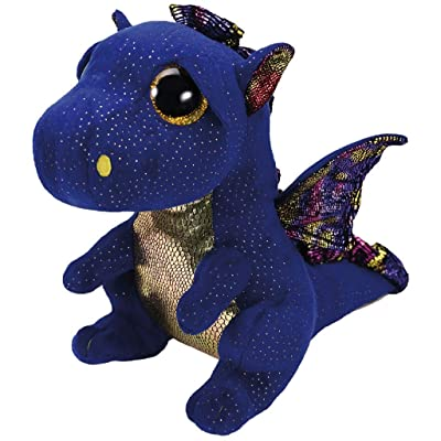 "Ty 9"" Saffire Medium Blue Dragon Beanie Boos Plush Stuffed Animal w/ Heart Tags: Toys & Games"
