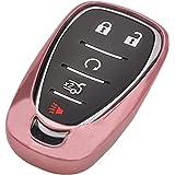 Pink TPU Key Fob Cover Case Remote Holder Skin Protector Jacket for Chevrolet 2017 2018 2019 Chevy Malibu Camaro Cruze Traver