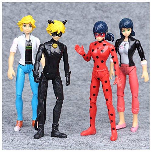 6Pcs Miraculous Ladybug Tikki Noir Cat Plagg Adrien Action Figures Doll Gift Toy