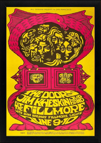 The Doors Psychedelic Concert Poster Framed Print Highest Quality Display