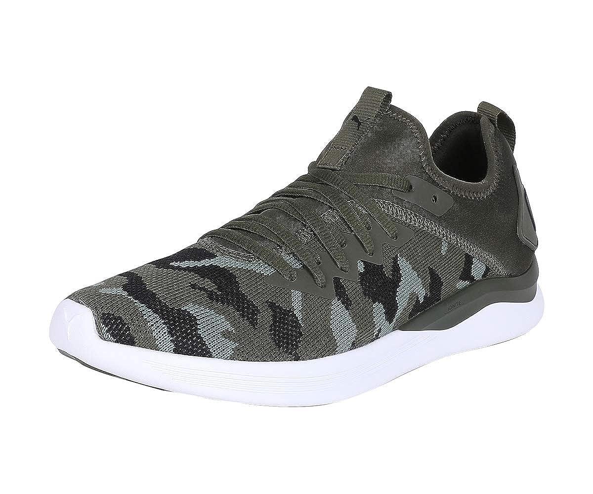 Puma Men's Ignite Flash Camo Forest Night Laurel Wr Running Shoes