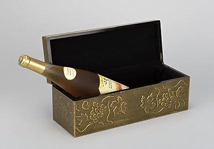 Caja de madera para botella