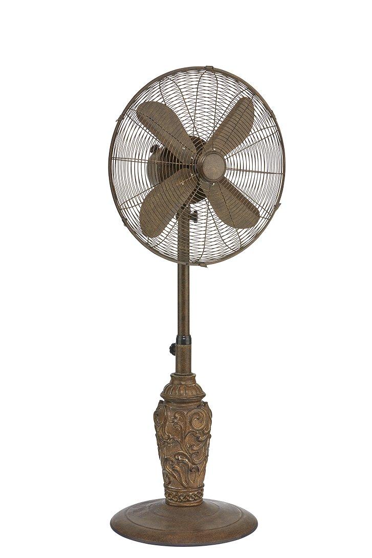 DecoBREEZE Adjustable Height Oscillating Outdoor Pedestal Fan, 18 In, Cantalonia