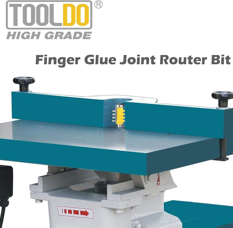 Bearing Finger Joint for DIY Door Table Cabinet Shelve Furniture Reversible Finger Glue Joint 1//4 inch shank Router Bit by Tooldo