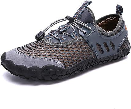Zapatos de río para Hombre para Trail, Correr, Deportivos, Informales, de Cinco Dedos, Zapatos de Trekking, Escalada, Color Gris 41: Amazon.es: Deportes y aire libre