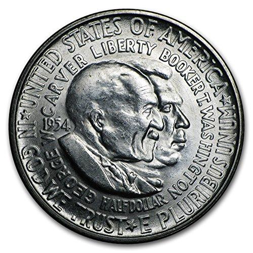 1954 S Washington-Carver Half Dollar BU Half Dollar Brilliant Uncirculated ()