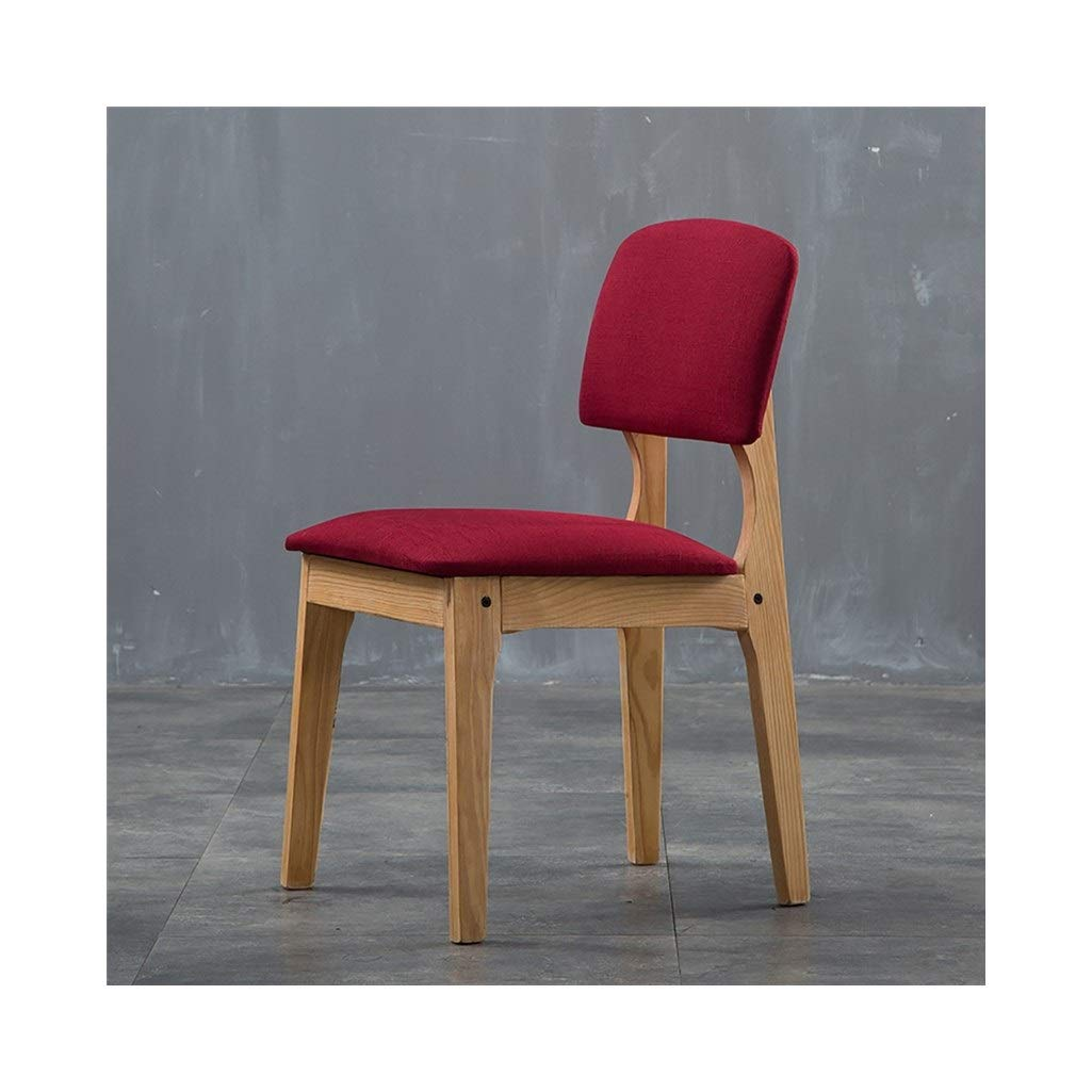 B KXBYMX Modern minimalist chair hotel chair home solid wood stool coffee chair - home stool (color   G)
