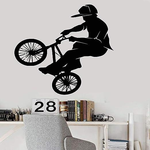 jiushixw Vinilo de Moda PVC Tatuajes de Pared Bicicleta Bicicleta ...