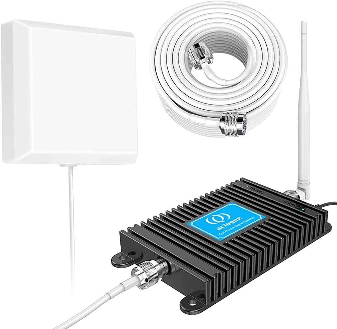 Home 4G Phone Booster Cell Phone Signal Booster AT&T Cricket US Cellular 4G LTE Band12/17 Cell Signal Booster Phone Signal Amplifier, up to 3500 Sq Ft Improve 4G Data and 4G Calls