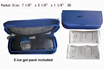 Case Blue Mini Pack : Amazon.com: chillpacks eye drops cooler case with 2 pieces ice gel