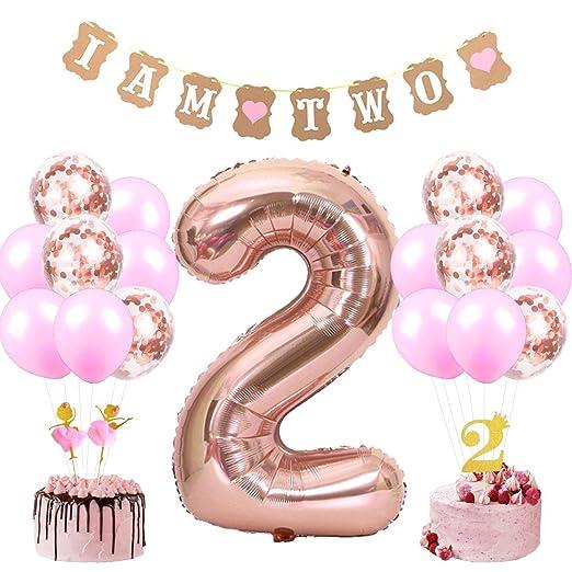 Decoraciones para el segundo cumpleaños de Girl With I Am ...