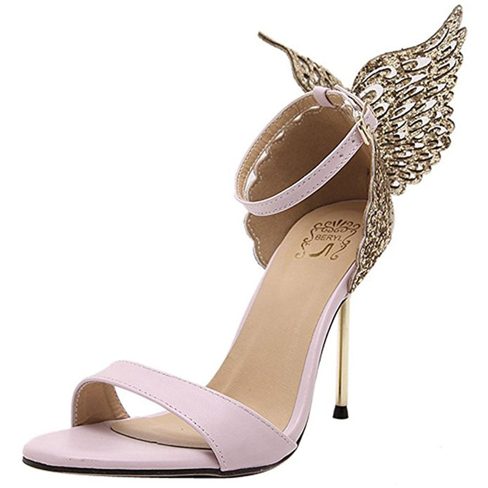 1321a48473ffa Amazon.com | Donalworld Women Strap Butterfly Wings Pump High Heel ...