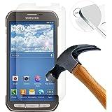 Lusee 2er Pack Film de Protection écran en Verre Trempé pourSamsung Galaxy S5 Active G870F ULTRA RÉSISTANT INDICE Dureté 9H Haute transparence( plus dure que un couteau)