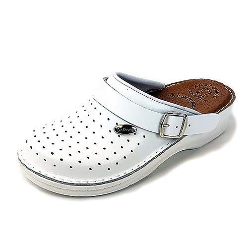 Dr Punto Rosso BRIL D53 Zuecos Zapatos Zapatillas de Cuero para Mujer   Amazon.es  Zapatos y complementos c8fc51f9b5b