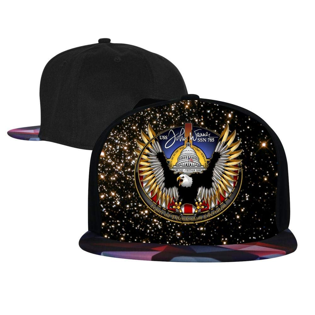 Adjustable Hip Hop Flat-Mouthed Baseball Caps USS John Warner Crest Mens and Womens Trucker Hats