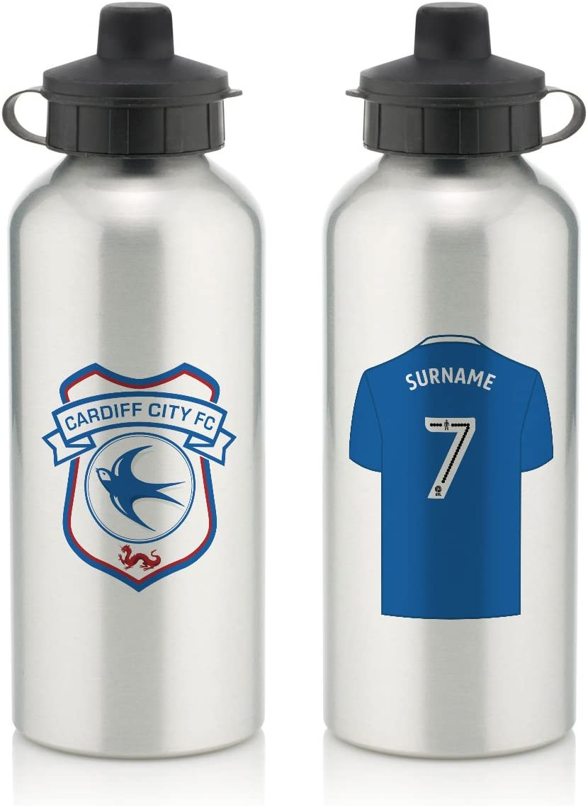 Personalised Official Cardiff City FC Aluminium Water Bottle