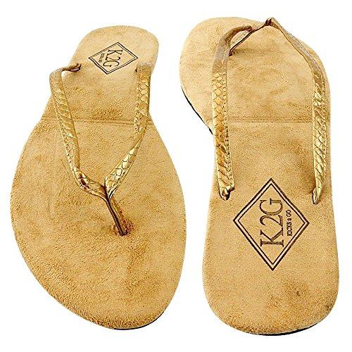 Ladies' Folding Flip-Flops with Pouch, Spa, Beach, Pool, Shower - Gold, (Flip Flop Purses)