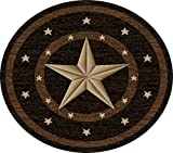"Dean Western Star Lodge Cabin Ranch Area Rug 7'10"" (8′) Round"
