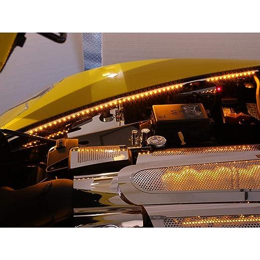 Amazon.com: Elite Auto Chrome Acc Fender Caps w/White LED fit for 2005-2013 Chevy Corvette C6-Stainless/Polished: Automotive