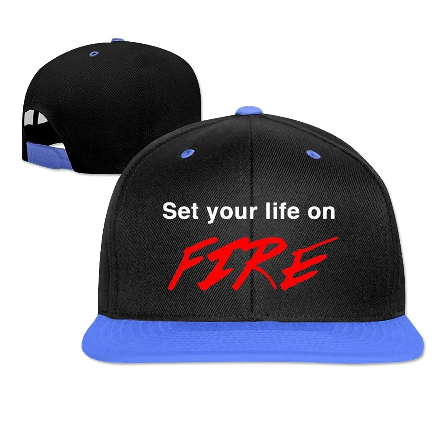 Shel Awesome Style Hip Hop Cap Set Your Life On Fire Baseball Snapback Cap Hat