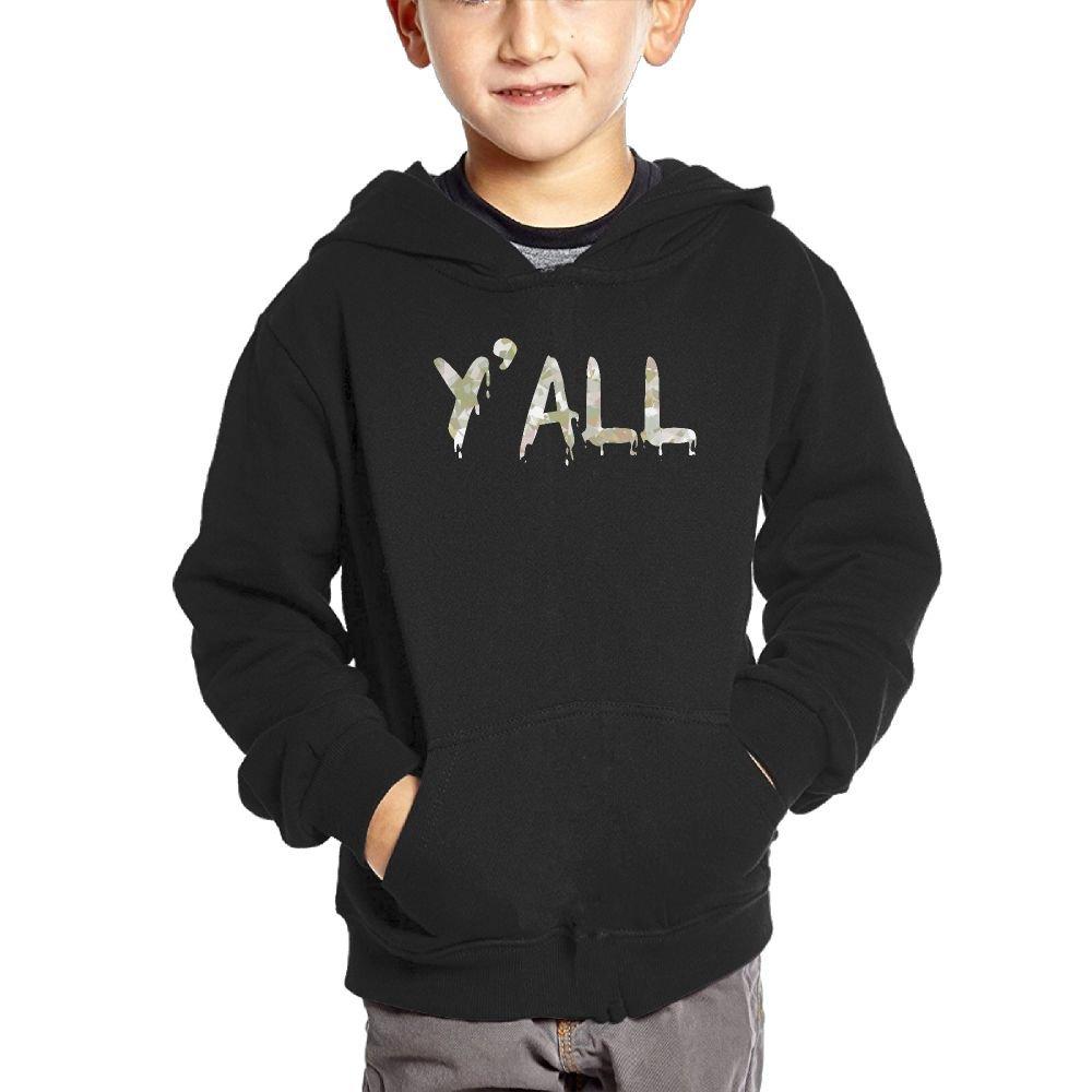 Small Hoodie Yall Camo Kids Casual Sweatshirt Kangaroo Pocket Hoodie