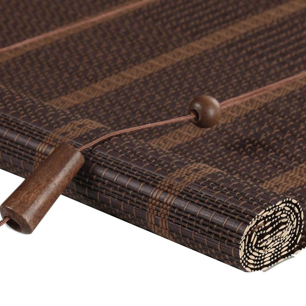 LIANGJUN 竹ロールスクリーン竹はウィンドウシェードを竹すだれ竹製カーテンしっかり織り 日焼け止め レトロ 防塵 断つ ロールタイプ バルコニー レストラン 、3色 (色 : C, サイズ さいず : 135x225cm) 135x225cm C B07Q7XYX7S