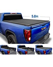 Tyger Auto T1 Roll Up Truck Tonneau Cover TG-BC1C9053 Works with 2019 Chevy Silverado/GMC Sierra 1500 (Incl. Denali) New Body Style | Fleetside 5.8' Bed | for Models Without Utility Track System