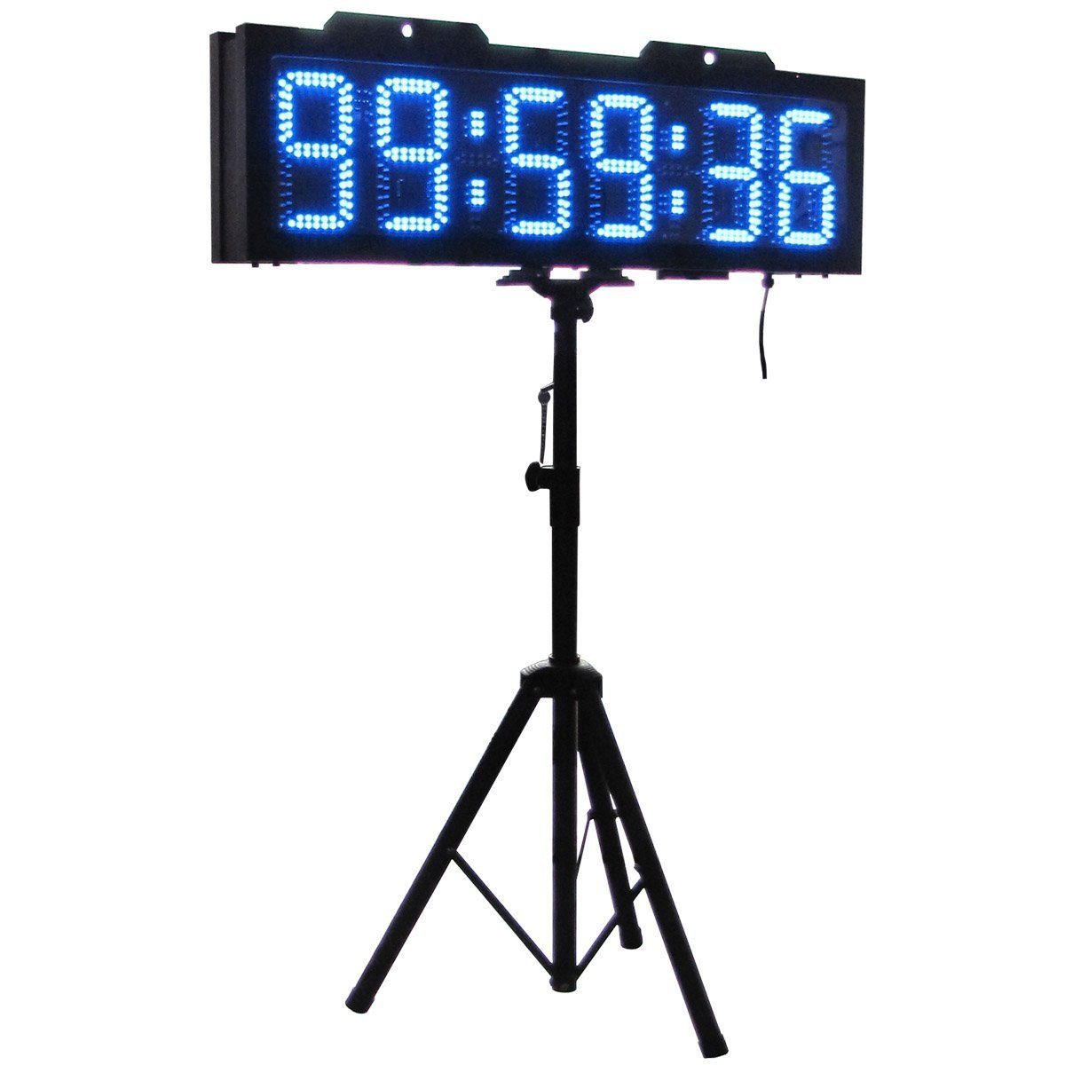 AZOOU 8-inch Double Sided Hours Minutes Seconds LED Race Timing Clock Support Countdown/up Timer Running Events Countdown/up with Tripod Wireless RF Control Blue Color