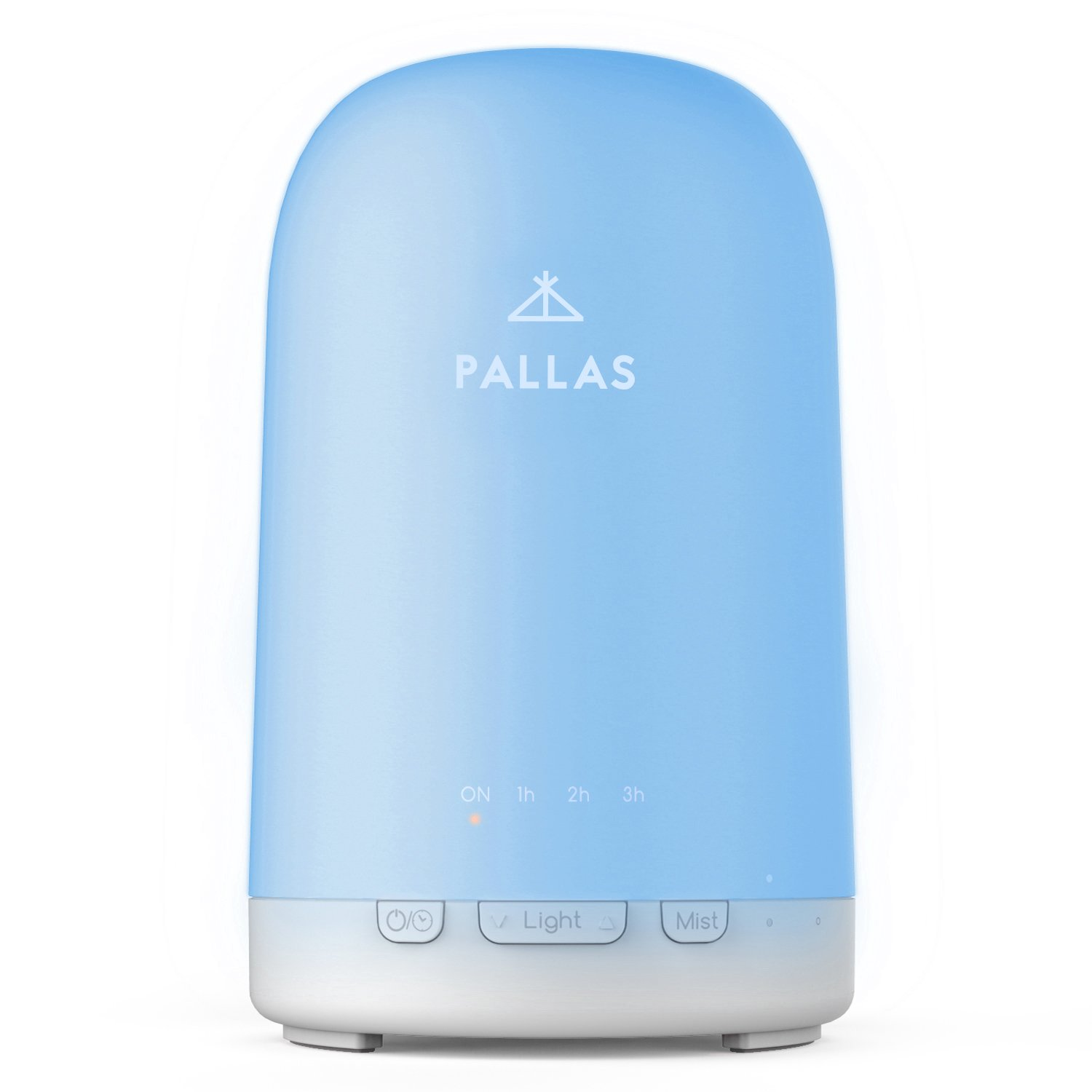 Pallas 200ml Essential Oil Diffuser Ultrasonic Aromatherapy Diffuser Humidifier Adjustable Cool Mist Auto-Off with 24 Colors Changing Light