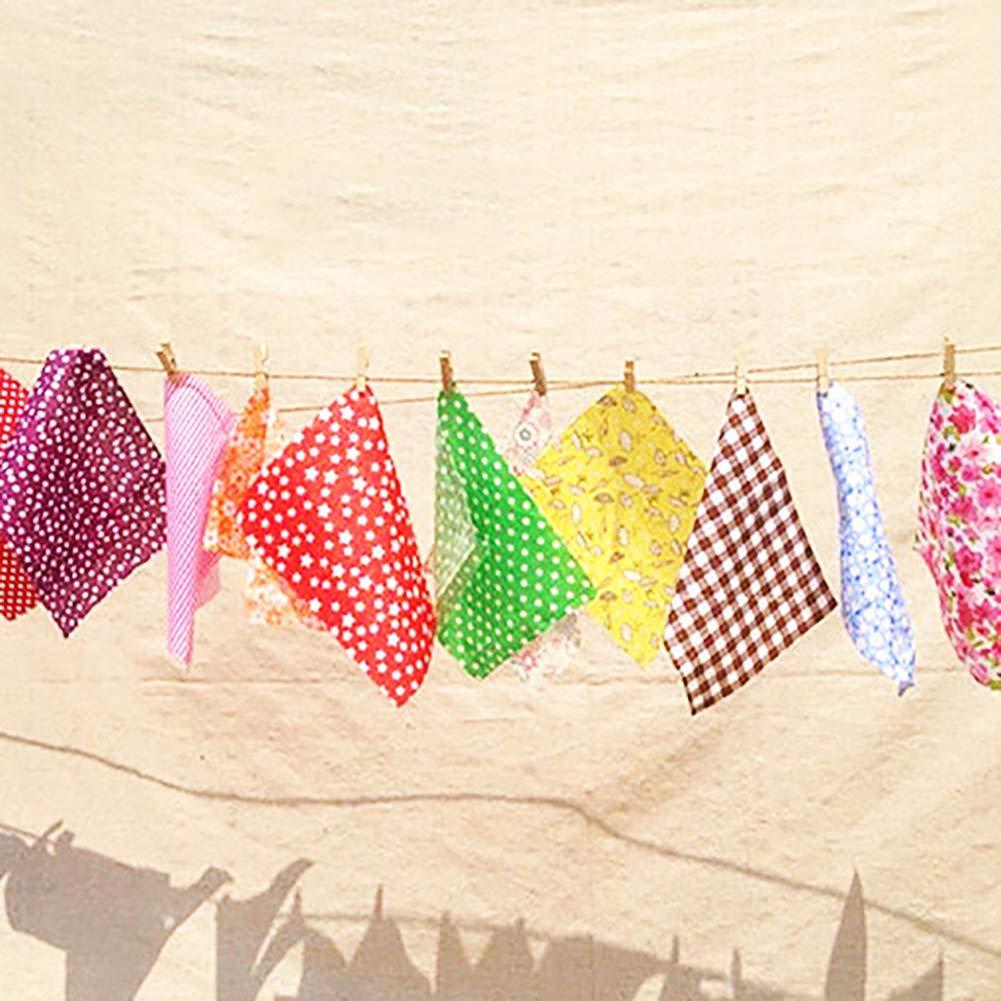 Ogquaton 30 Unids Cuadrado Tela de Algod/ón Tela Patchwork Estampado Floral DIY Artesan/ías Costura Color Al Azar 10x10cm Color Al Azar