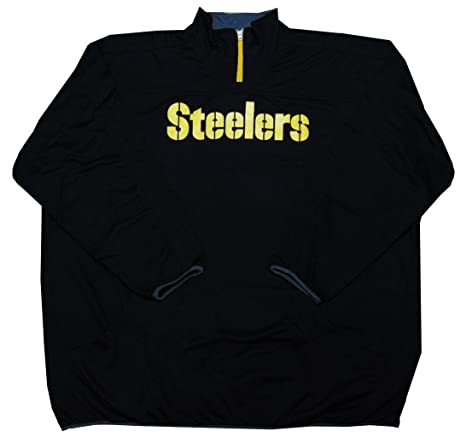 Image Unavailable. Image not available for. Color  Pittsburgh Steelers NFL  Mens Majestic Birdseye 1 4 Zip Fleece ... c072716d4