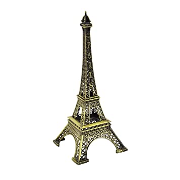 sourcingmap® Torre Eiffel Recuerdos de metal tono bronce Modelo 25cm Altura 10 pulgadas: Amazon.es: Hogar