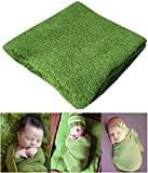 Image of Newborn Photography Props Newborn Baby Stretch Long Ripple Wrap Yarn Cloth Blanket by Bassion