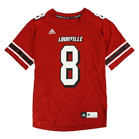 Image Unavailable. Image not available for. Color  adidas Louisville  Cardinals NCAA Official Home Red  8 Football Jersey Men s 89e96d409